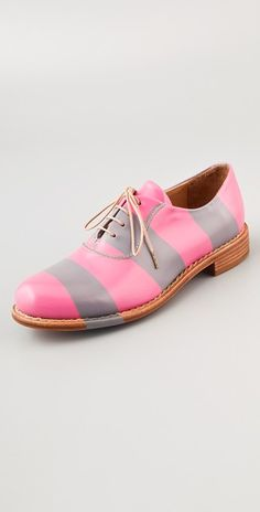The Office of Angela Scott Mr. Smith Striped Oxfords