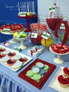 Maravillosa mesa de cumpleaños de Elmo | Blog de BabyCenter @Pilar Diaz Suarez Hernandez-Enmicocinahoy