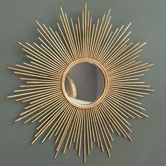 Magellan - Miroir en métal doré H 99 cm