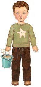 Little Oliver + S Sandbox Pants Pattern and Starfish Stencil Size 4-8