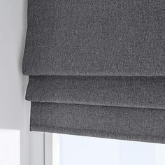 Finished in charcoal this Barkweave roman blind is designed with a plain textured finish, fully lined and available in a choice of sizes. Blackout Roman Blinds, Curtains With Blinds, Charcoal, Design, House Ideas, Lily, Lounge, Windows, Flat