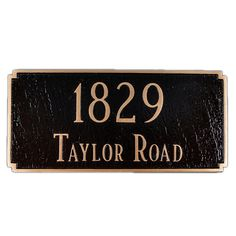 Madison 2-Line Address Plaque