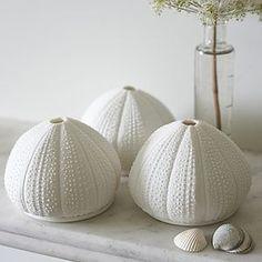 Porcelain Sea Urchin Tea Lights - votives & tea light holders