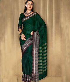 Green Fancy Cotton Saree