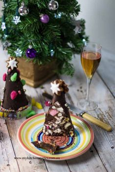 Chocolate Rocky Road Christmas Trees