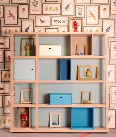 Libreria componibile laccata in legno con cassetti YOUNG   Libreria modulare - dearkids
