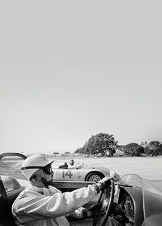 Jo Bonnier, in a Porsche 718 RSK (DNF), and Bob Holbert, in another Porsche # 14, Grand Prix Riverside, California, October 16, 1960.