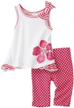 Carters Baby-Girls Infant Polka Dot Flowers Print Legging Set $14.00