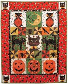 Quilt Inspiration: Free Pattern Day: Halloween!