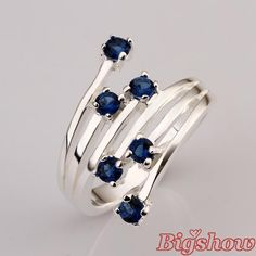 silver plated Ring With Genuine Austrian Crystals Cubic Zircon Stone Factory price full size