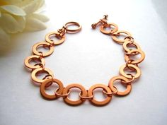 Copper Washer Bracelet by BlackDovesDesigns.etsy.com.
