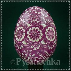 Real Pysanky Hand Made Pysanka Easter Egg Chicken Scratched Technique | eBay