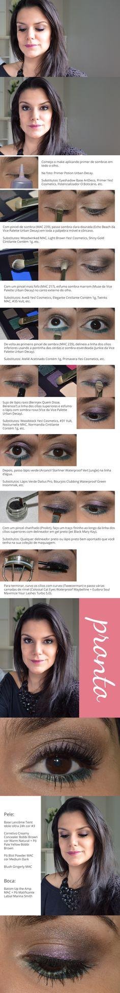 Tutorial: Roxo e Verde http://www.2beauty.com.br/blog/2014/03/06/tutorial-roxo-e-verde-2/ #maquiagem #makeup #tutorial
