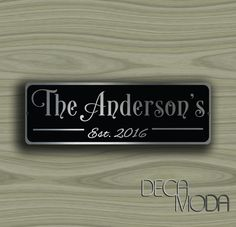 Custom FAMILY NAME SIGN Check More At Http://www.decamoda.com