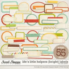 #digiscrap art collection for #DIY designs. Added to our art library Feb 2013. Perfect for #projectlife type projects.