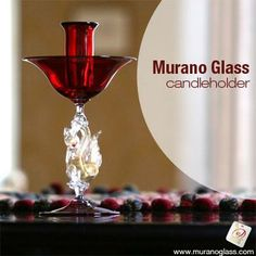 This exquisite #candleholder fills a room with its presence and colour and surprises with its #design. The glass pieces are completely handmade in the furnace which makes them exclusively unique.   Check for 'Vetro Artistico® Murano' seal of guarantee when buying a Murano glass product! Visit www.muranoglass.com
