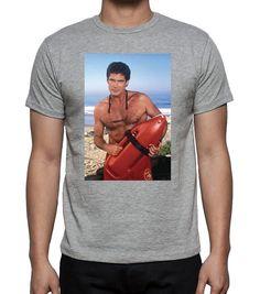 David Hasselhoff Baywatch Mens Tshirt: Amazon.de: Bekleidung