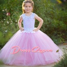 94.05$  Buy here - http://ali2j6.worldwells.pw/go.php?t=32790846304 - 2017 New Flower Girl Dresses White And Pink With Top Lace Tulle Cheap Kids Party Ball Gown First Communion Dress Vestidos Longo