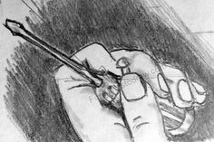 A practice drawing of a hand and a screwdriver - Fun Things to Draw Drawing Practice, Cool Drawings, Fun Things, How To Draw Hands, Art, Fun Stuff, Funny Things, Kunst, Awesome Drawings