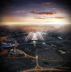 Weston Williamson's four-runway Luton Airport vision...actually quite cool.