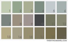 Sacred Space Paint Colors muted gray earth tones soft blue green purple lavender taupe gray brown sage olive slate tan neutral