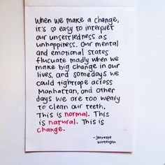 I said yesterday that I'd be back to share this - the simple thing I stumbled upon that's sooo helped me to not worry about t. Happy Quotes, Positive Quotes, Me Quotes, Motivational Quotes, Inspirational Quotes, Cool Words, Wise Words, Jeanette Winterson, Say That Again