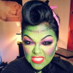 Girl Frankenstein makeup