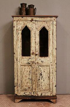 Distressed antique cabinet
