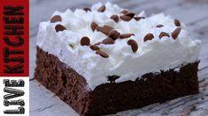 Μαμαδίστικο Γλυκάκι (Πανεύκολο & Πεντανόστιμο)Mammy's Chocolate dessert ... Cold Desserts, Something Sweet, Kitchen Living, Custard, Food And Drink, Cooking Recipes, Treats, Youtube, Cakes