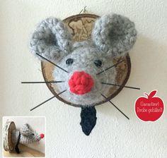 Häkelanleitung für Richard, die Ratte als Trophäe