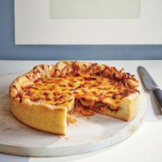 Deep-Dish Mushroom and Onion Pizza   CookingLight.com