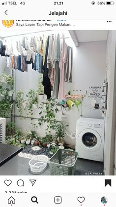 Laundry Room Design, Home Room Design, Small House Design, Home Interior Design, Laundry Room Storage, Laundry In Bathroom, Hobby Design, Outdoor Laundry Rooms, Laundy Room