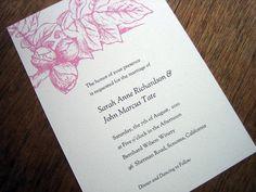 Printable Wedding Invitation - Floral ($39 design; $140 printed ourselves)