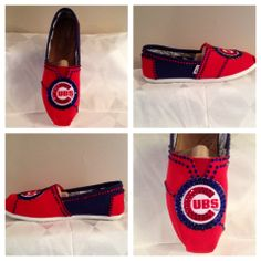 Chicago Cubs womans shoes custom Chicago Cubs by Blingshoeshop, $130.00