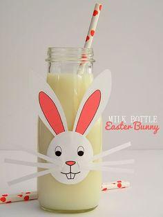 How to turn a regular bottle into Milk Bottle Easter Bunnies for kids