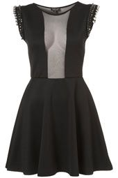 Embellished Mesh Insert Skater Dress, i need this NOW