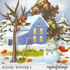 SCENIC WINTER 2 #CUdigitals cudigitals.com cu commercial digital scrap #digiscrap scrapbook graphics