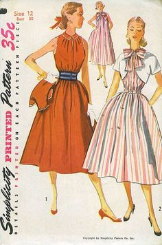 Simplicity 4208  Vintage 1950s Womens Dress Pattern   by Fragolina, $5.00
