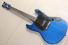 New arrival customize electric  guitar mahogany  bady top quality in blue 130128