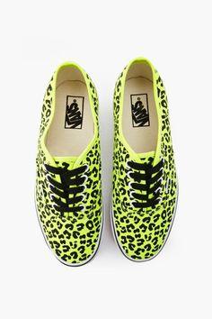 neon vans. summer must have! Leopard Print Vans 03dd43ae5b6