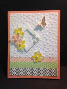 Petite Petals, Birthday Card, Shower Card, Thinking of You Card, Get Well Card, Stampin' Up!, Rubber Stamping, Handmade Cards