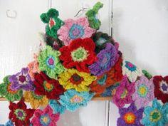 Scarf Crochet Pattern - Bright Blooms Flower Scarf PDF Crochet Pattern £2.50