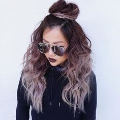 hair dye ideas colorful, chocolate mauve hair, This hair color is so cute