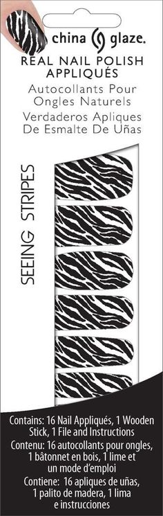 China Glaze Nail Applications, Seeing Stripes White *** To view further for this item, visit the image link.