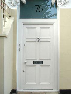front door companyFantastic unusual shape to this Regencystyle front door in black