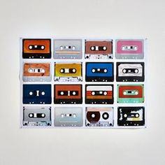 Affiche cassettes audio, Acilia La Redoute Interieurs - Affiche, poster