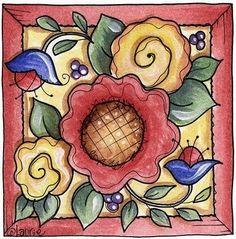 decoupage flores