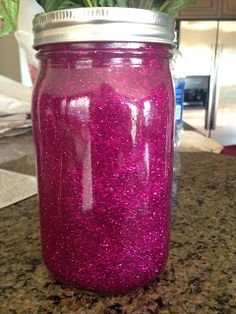 DIY Mind Jar for Kids - great alternative to a timeout! All they have to do is wait for the glitter to settle, so instead of throwing a tantrum or screaming they relax and watch the glitter. Super easy to make and of course you can decorate it however you would like :) For more information, see the blog for details. *My Slice of Sunday