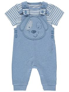 We know the cuteness battle between puppies and babies is at an all-time high, that's why we've created this adorable set that pairs both together to create . Teddy Bear Clothes, Baby George, Striped Bodysuit, Boys Wear, Baby Online, Dungarees, Baby Accessories, Latest Fashion For Women, Kids Outfits