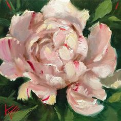 "Daily Paintworks - ""The Peony"" - Original Fine Art for Sale - © Krista Eaton"